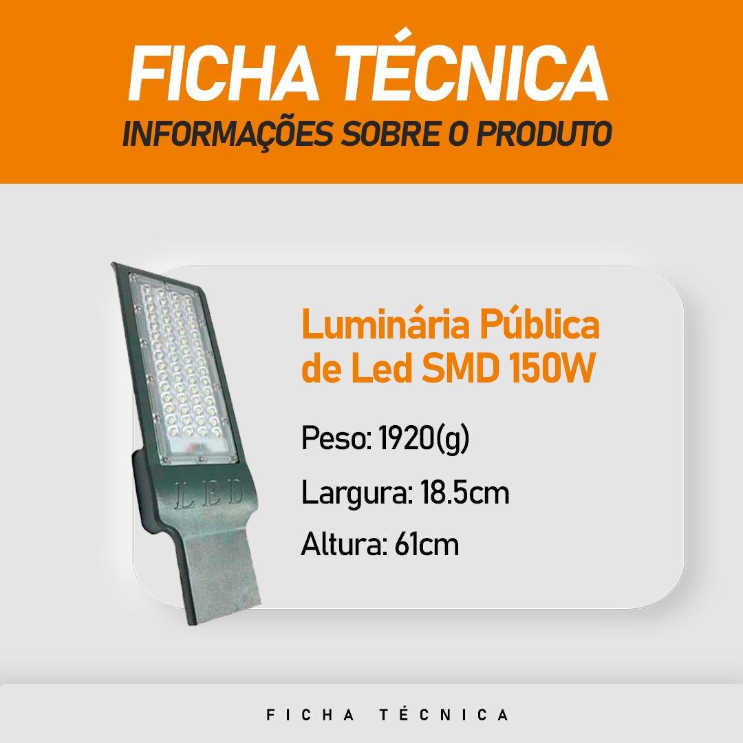 Luminária Pública LED SMD 150W Branco Frio IP67