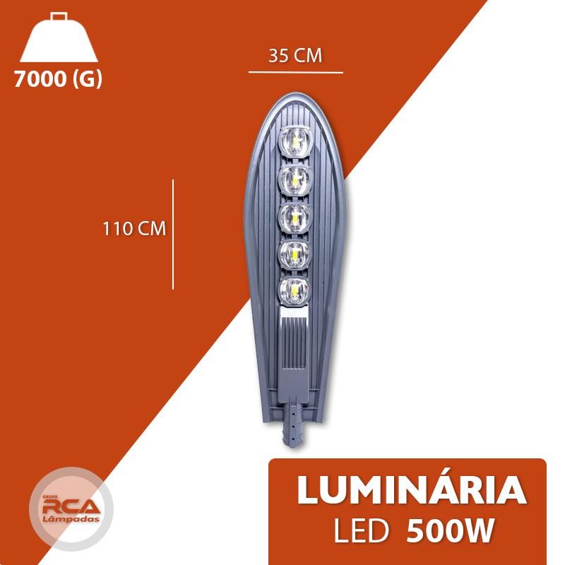 Luminária pública petala led 500w para poste de rua cob branco frio 6000k (Chip Tecnológico)