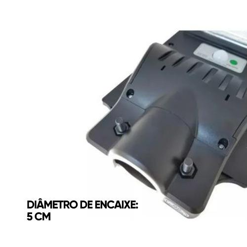 Luminária Pública Poste Solar Led 120W Com Sensor Number One - Controle Remoto