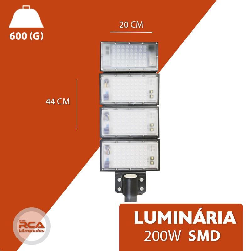 Luminária Pública de Poste SMD 2021 Number one 200w IP68 4 Modulos (Tecnologia Militar)