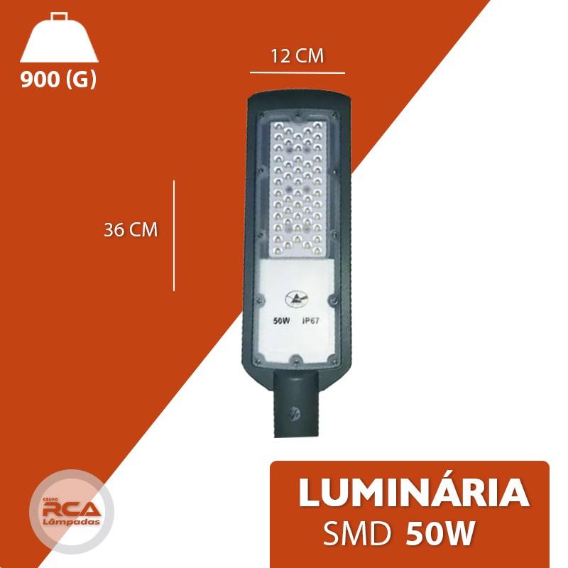 Luminária Pública Smd (GOLD) Led 50w Branco Frio branco frio IP67 6500k (Tecnologia Alemã)
