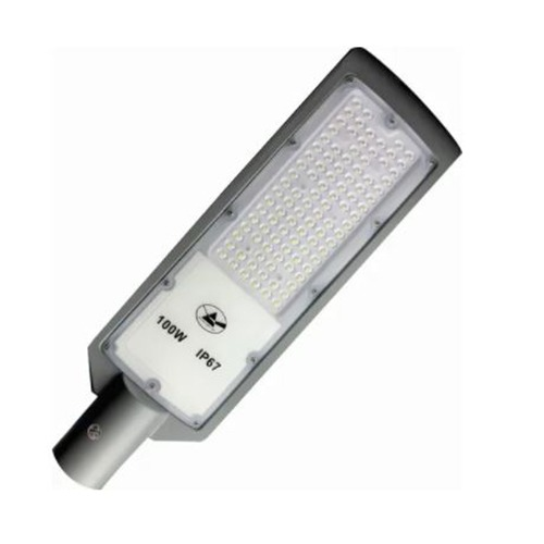 Luminária Pública SMD Led 100W Branco Frio 6500k IP67 Cinza