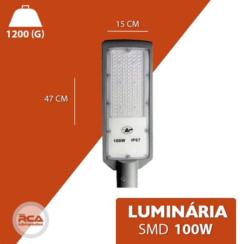 Luminária Pública Smd Led 100w Branco Frio branco frio 6500k IP67 (Tecnologia Alemã)