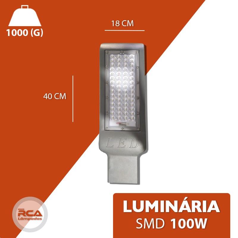 Luminária Pública Smd Led 100w Branco Frio branco frio IP67 6500k com Fotocélula