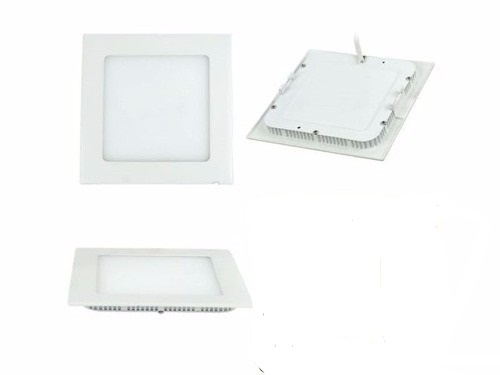 Plafon Led de Embutir Quadrado 18w 22 x 22cm Branco Frio 6000K Tecnologia Siemens