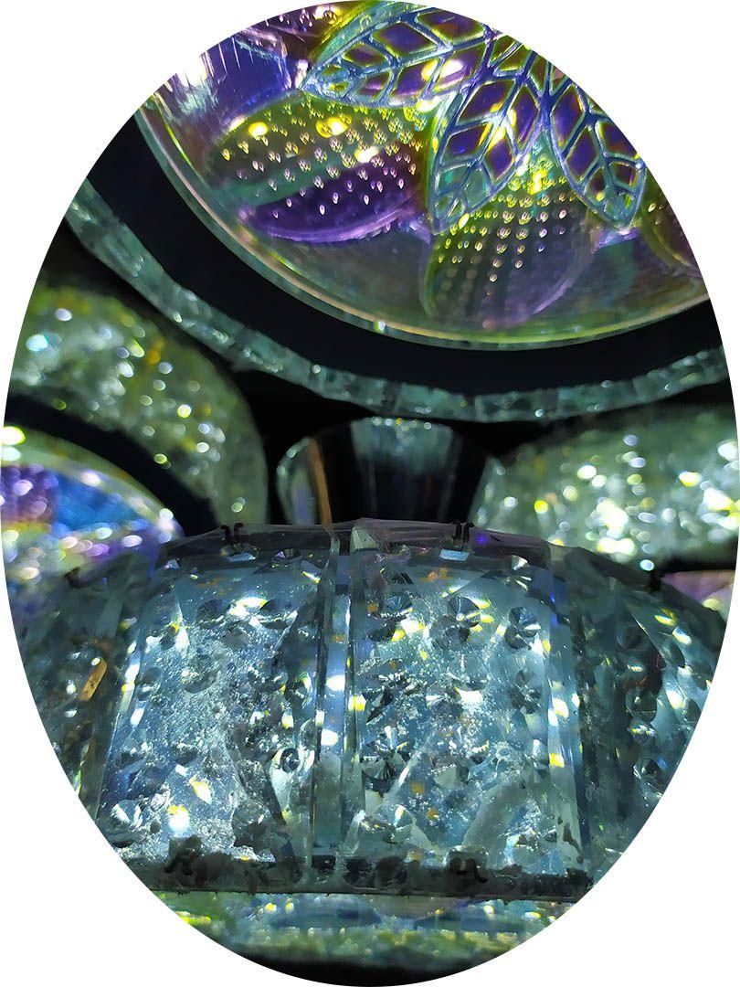 Lustre Cristal 4 esferas Pendente Diamante 8063