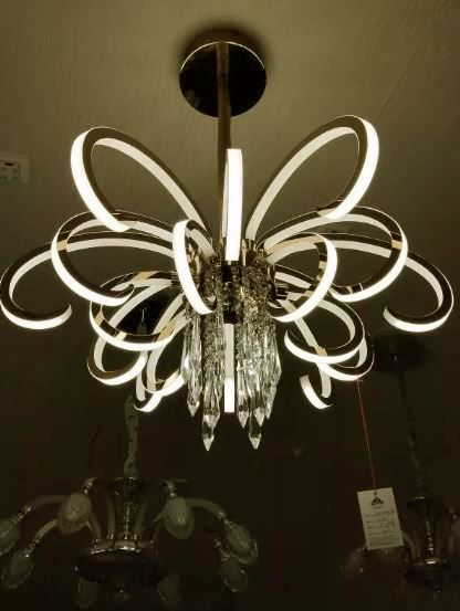 Lustre Pendente D-9003 Formado bivolt Flor Com Cristal