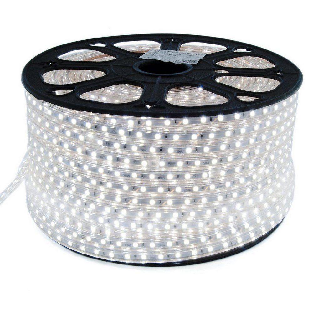 Mangueira Chata 100w / Bi-Volt Ultra Intensidade A prova d'água LED Branco Frio Rolo 100m
