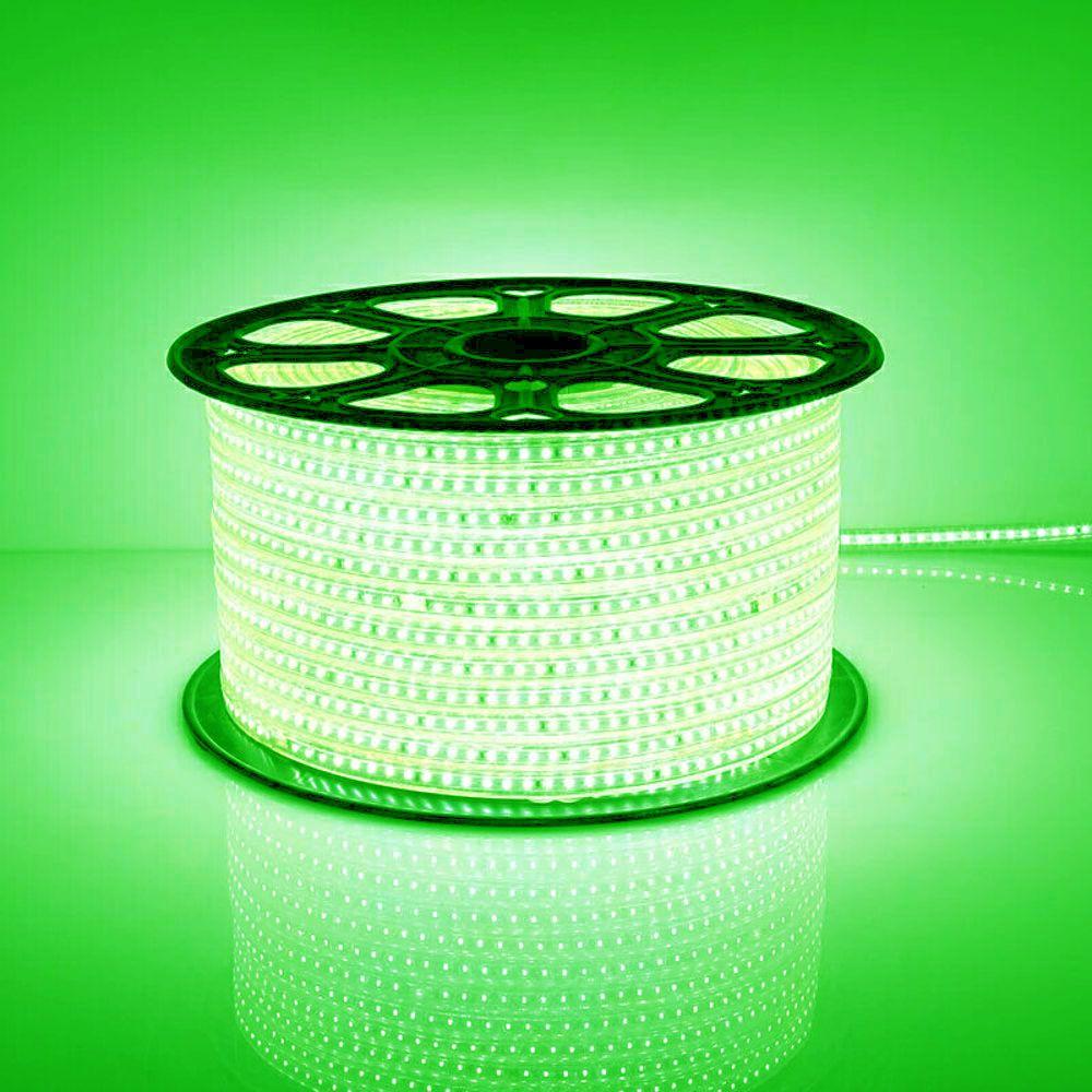 Mangueira Chata 100w / Bi-Volt Ultra Intensidade A prova d'água LED Verde Rolo 100m
