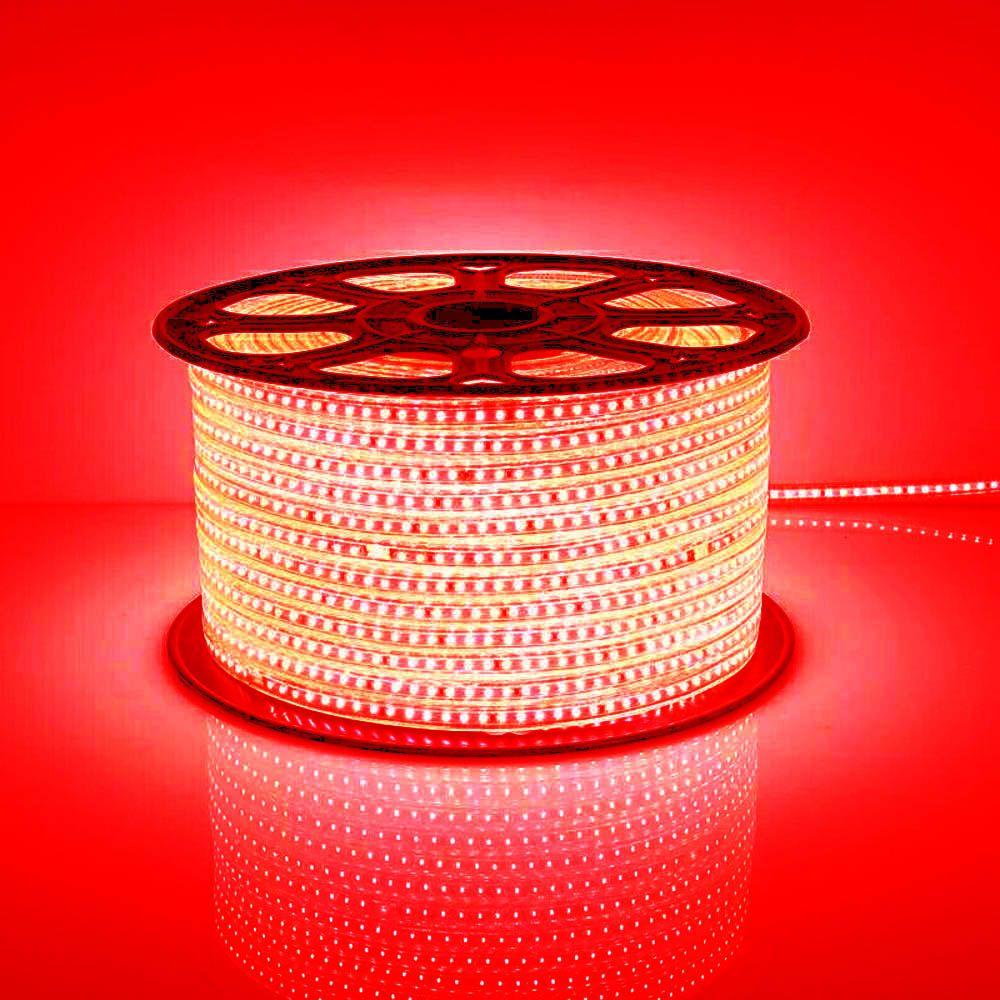 Mangueira Chata 100w / Bi-Volt Ultra Intensidade A prova d'água LED Vermelha Rolo 100m