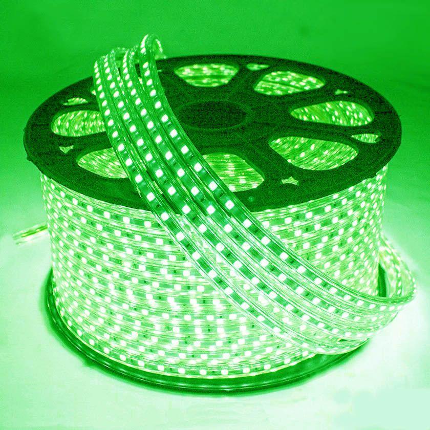 Mangueira Chata 120w / Bi-Volt Ultra Intensidade A prova d'água LED Verde Rolo 100m
