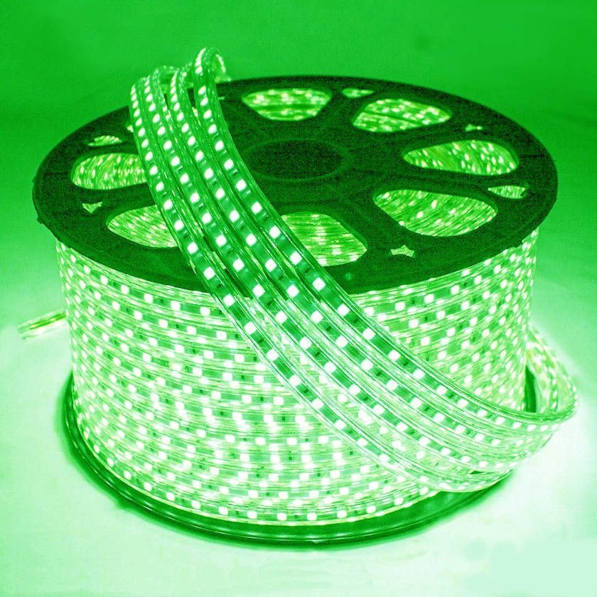Mangueira Chata 140w / Bi-Volt Ultra Intensidade A prova d'água LED Verde Rolo 100m