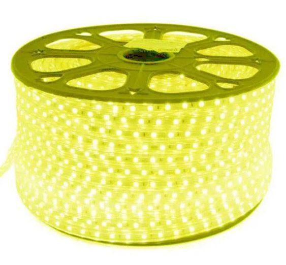 Mangueira Chata 60w / Bi-Volt Ultra Intensidade A prova d'água LED Branco Quente Rolo 100m