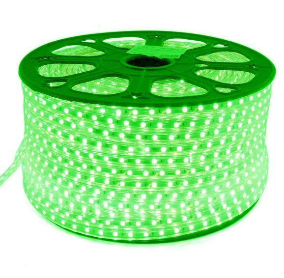 Mangueira Chata 80w / Bi-Volt Ultra Intensidade A prova d'água LED Verde Rolo 100m