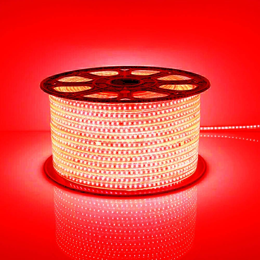 Mangueira Chata 80w / Bi-Volt Ultra Intensidade A prova d'água LED Vermelha Rolo 100m
