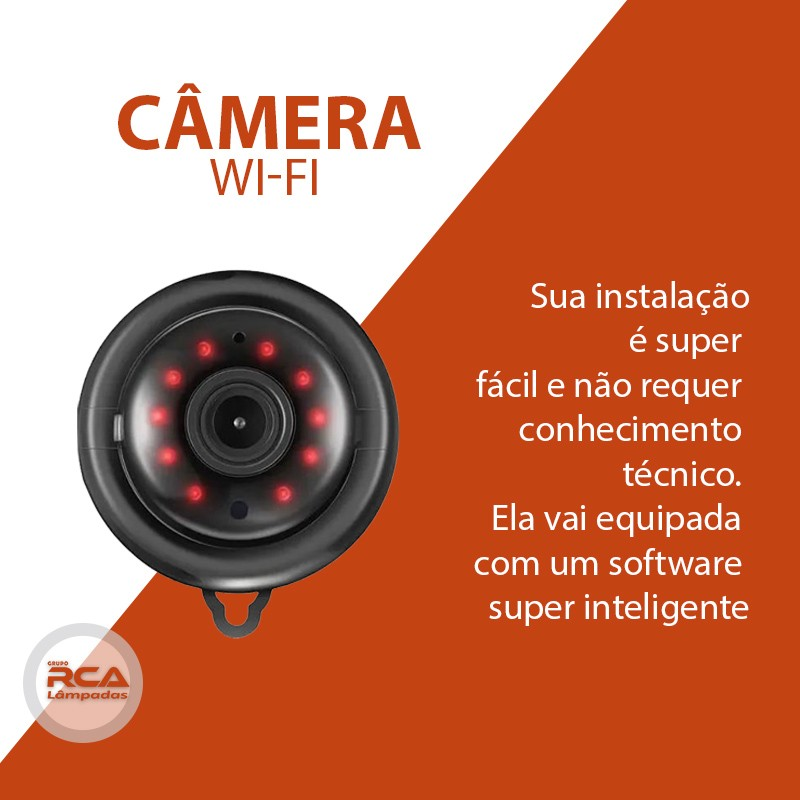 Mini Câmera Wifi Hd Infravermelho Visão Noturna V380 720p