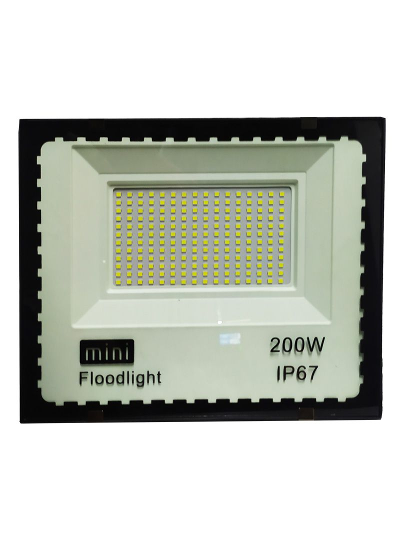 Mini Refletor Holofote Advanced  LED SMD 200w Branco Frio IP67