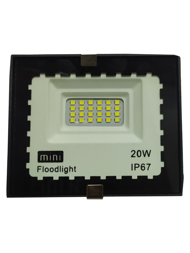 Mini Refletor Holofote Advanced  LED SMD 20w Branco Frio IP67