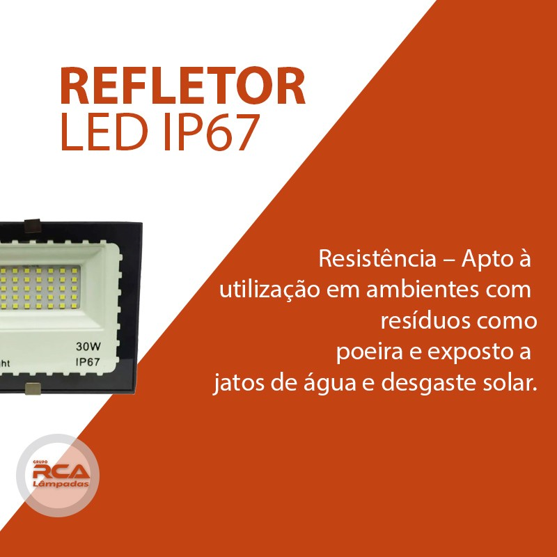 Mini Refletor Holofote Advanced  LED SMD 30w Branco Frio IP67