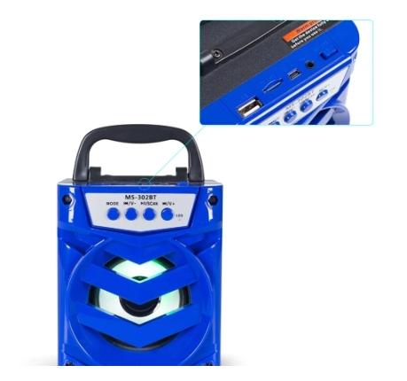 Caixa de Som MS-302BT Alto-falante portátil sem fio Bluetooth