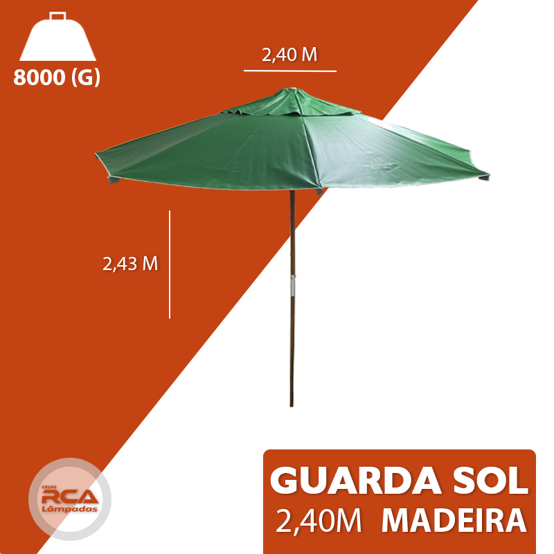 Ombrelone Madeira 2,40 Mts Guarda Sol