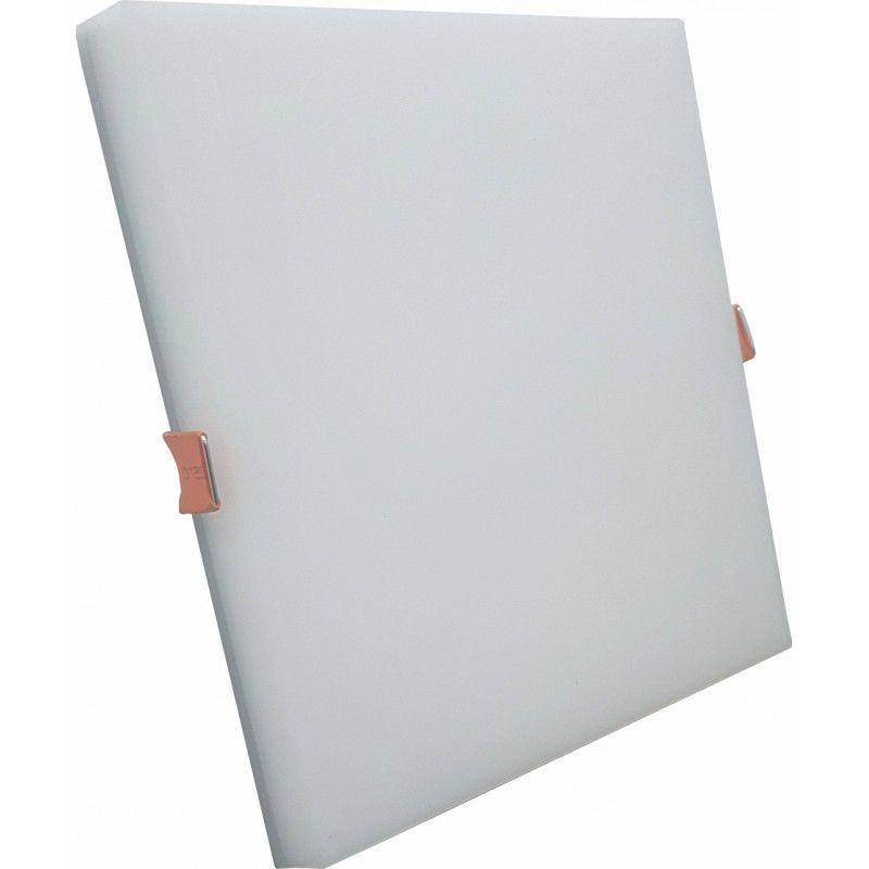 Plafon Led Embutir Borda Infinita 18W Quadrado Slim Bivolt