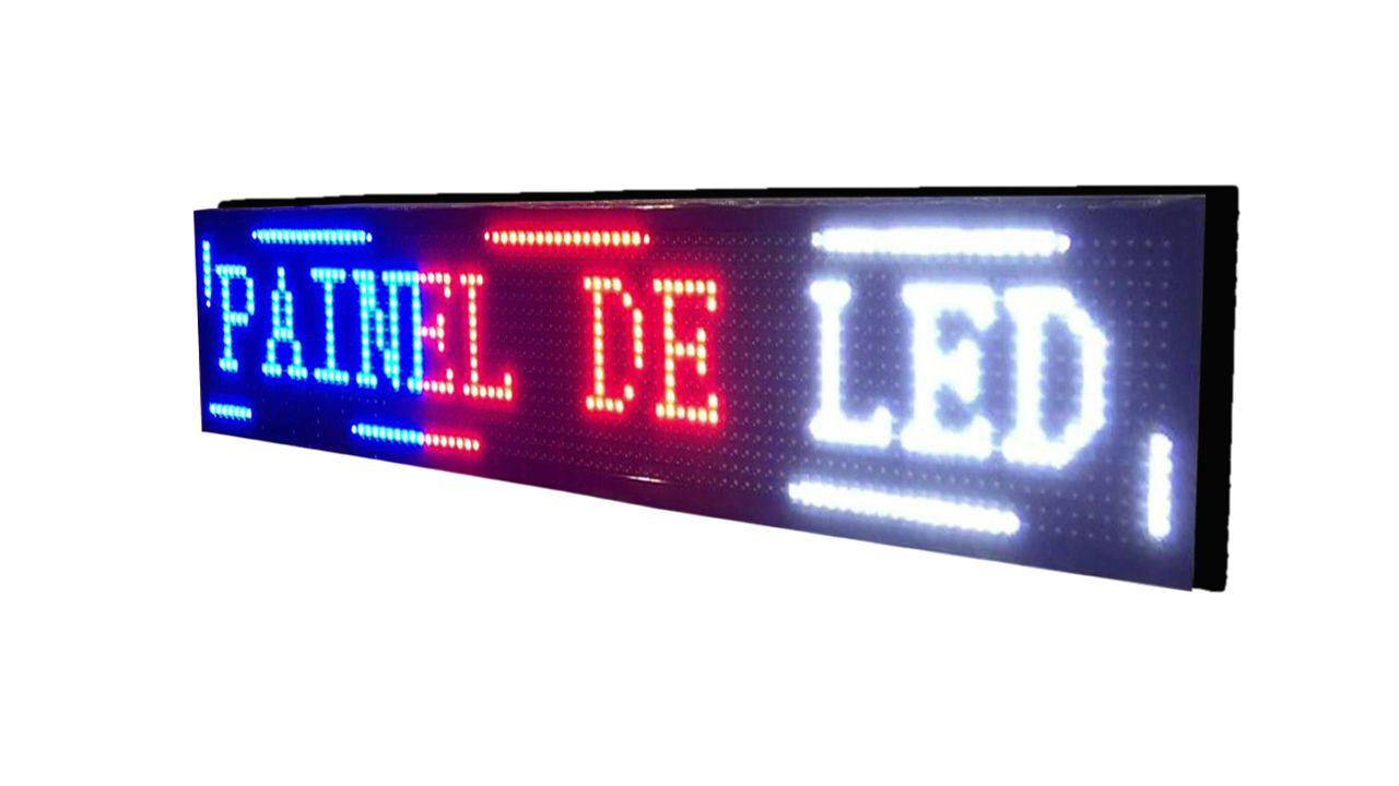 Painel De Led Letreiro Digital Indoor Colorido 200x40