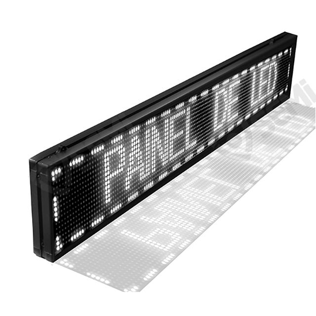 Painel De Led Letreiro Digital Indoor Branco 130x20