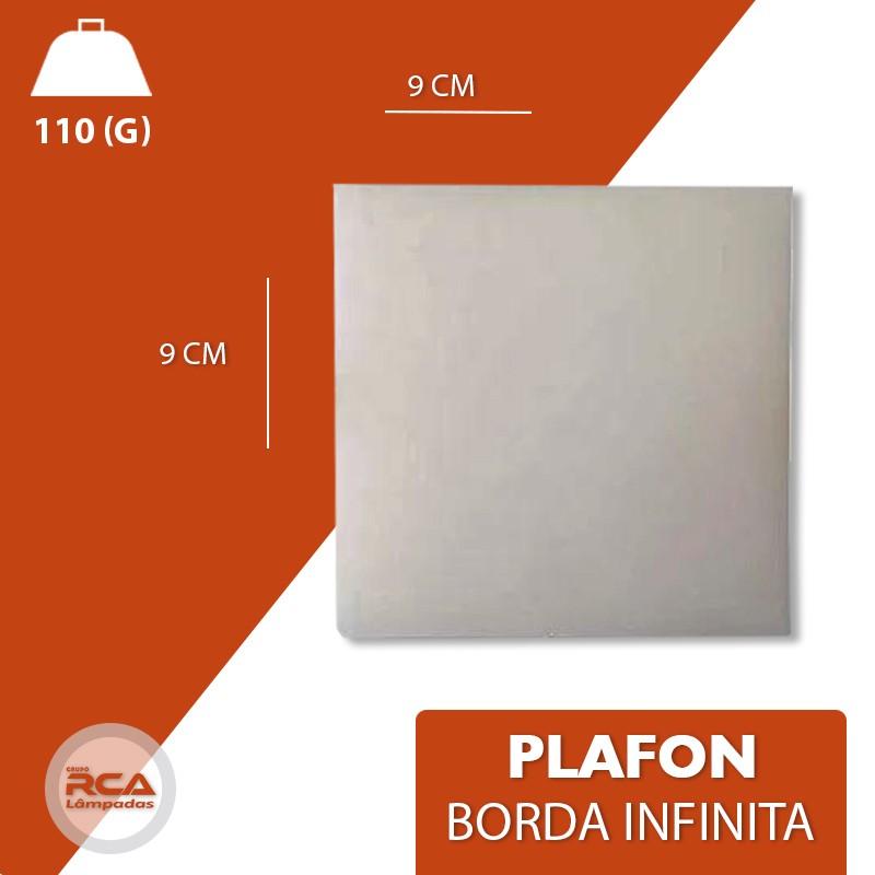 Plafon ULTRALed (GOLD) Titanium embutir borda Infinita 12w quadrado