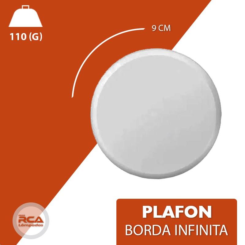 Plafon ULTRALed (GOLD) Titanium embutir borda Infinita 12w redondo