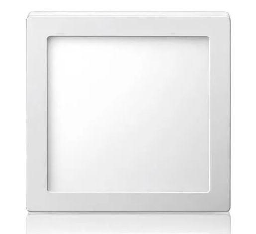 Plafon LED Luminária Quadrado Sobrepor 12w 17x17 Branco Frio 6000k Tecnologia Siemens