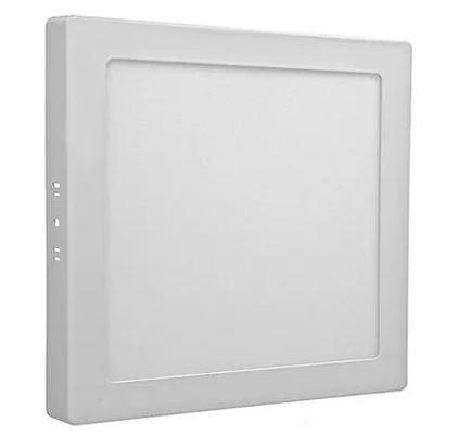 Plafon Led Sobrepor Quadrado 18w Branco Frio Bivolt Tecnologia Siemens