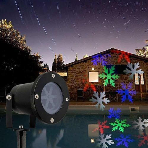 Projetor de led 5w Foyu Outdoor Laser Light Natalino Flocos de Neve ip65