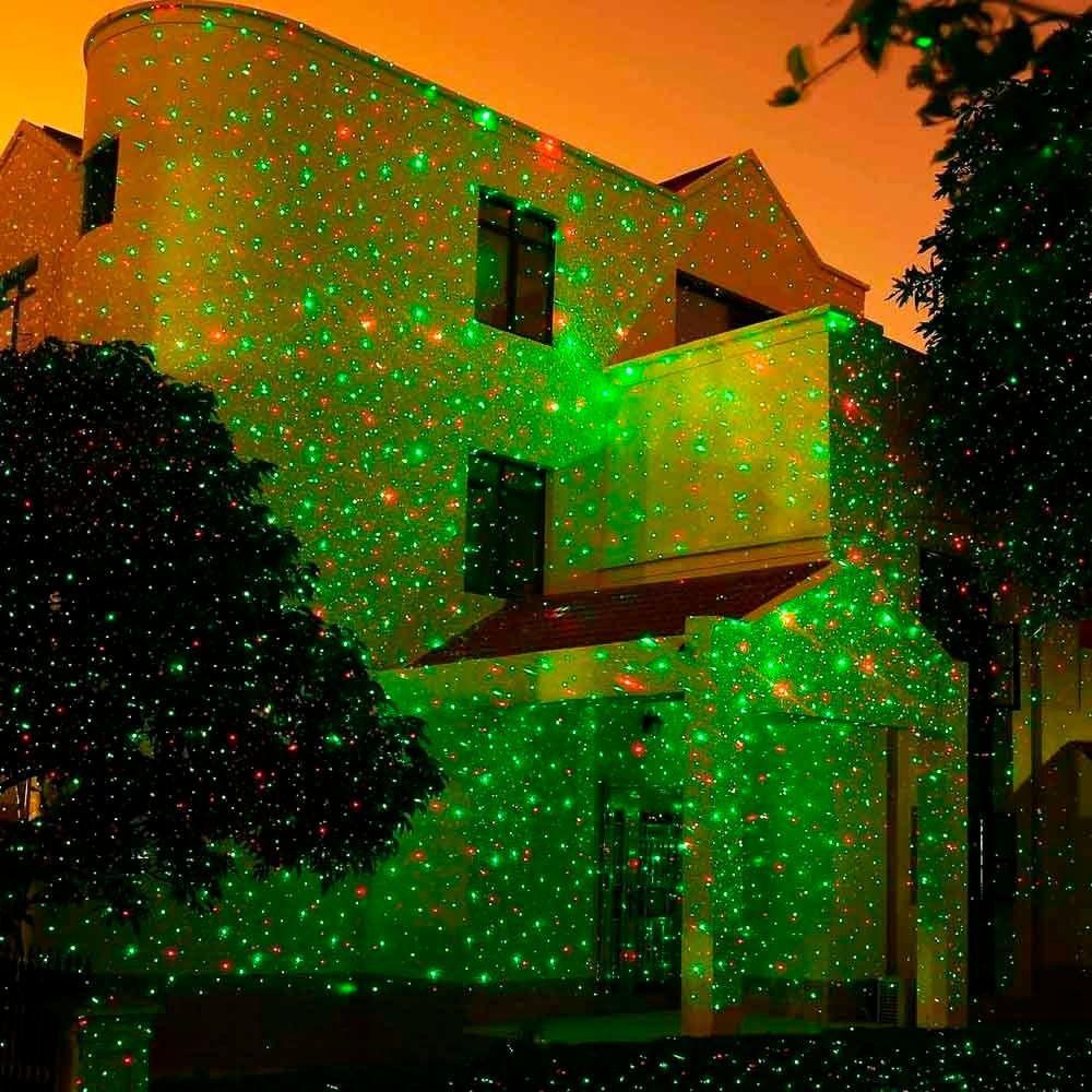 Projetor holográfico de Led natalino IP65 a prova d'água Bluetooth 10w vermelho / verde (Tecnologia Epson)