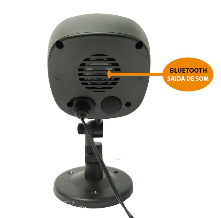 Projetor holográfico de Led natalino IP65 a prova d'água Bluetooth 20w vermelho / verde (Tecnologia Epson)