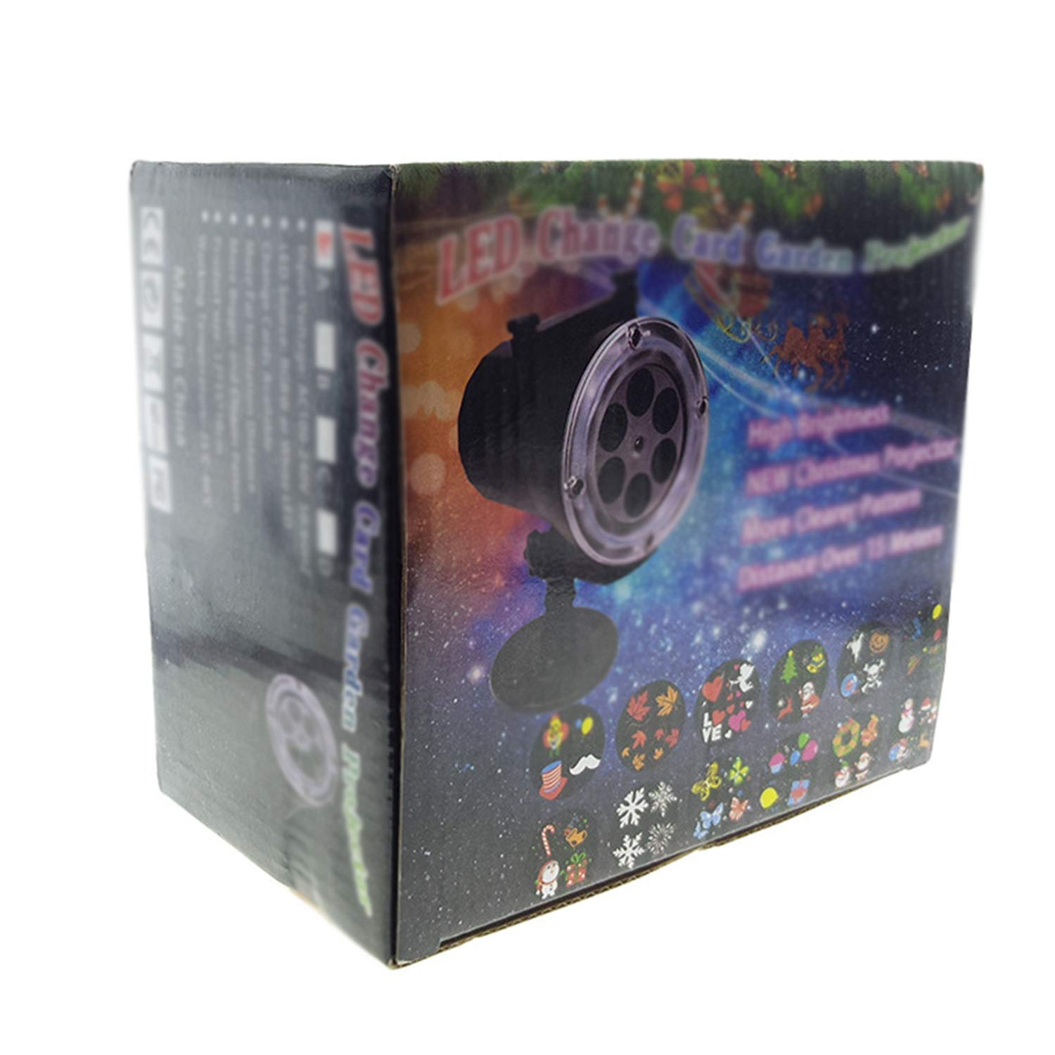 Projetor led Luz decorativa Natalina Multicores Outdoor/Indoor 48 imagens ip65 12w