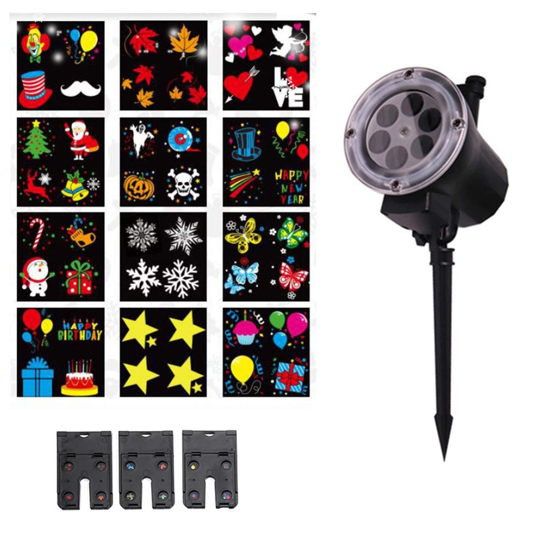 Projetor led Luz decorativa Natalina Multicores Outdoor/Indoor 48 imagens ip65 12w