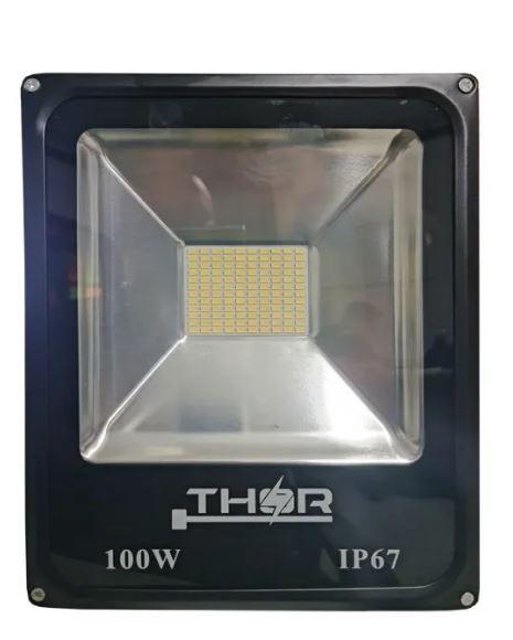 Refletor 100W Smd led 6500k Branco Frio Bivolt IP67 a prova d'água - Gold