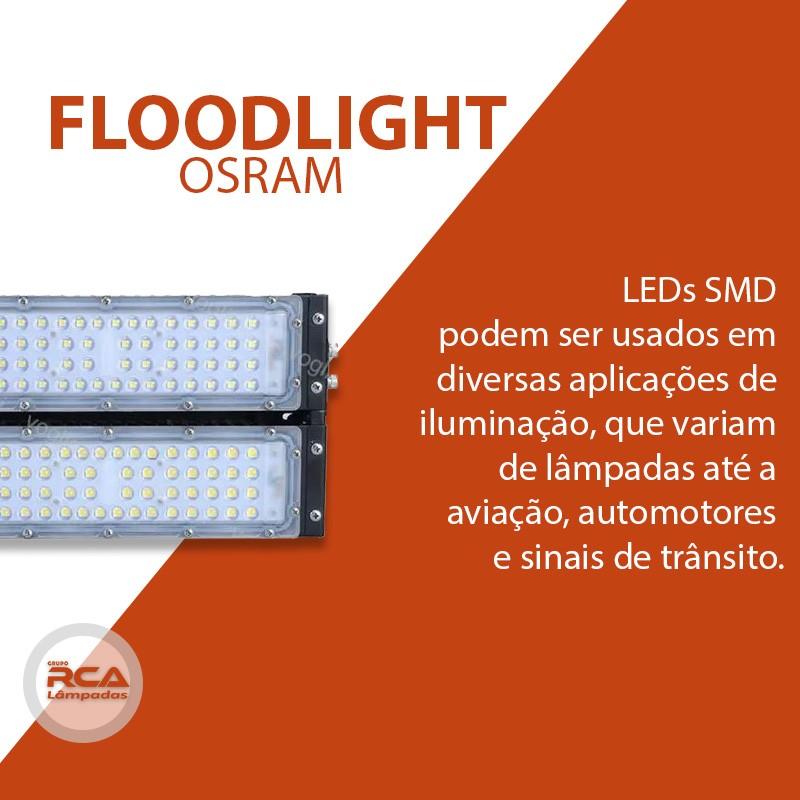 Refletor de led 100w Osram Projetor de luz inundação IP65