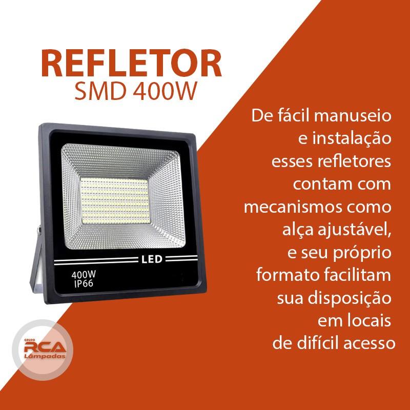 Refletor de Led 400w SMD (GOLD) 6500k Bivolt Branco frio IP66