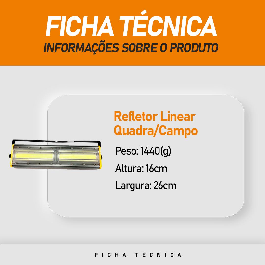 Refletor de Led Linear para Campo   Quadra 200W IP68 Flood Light Duplo Um Módulo Direcionável Modelo 2021