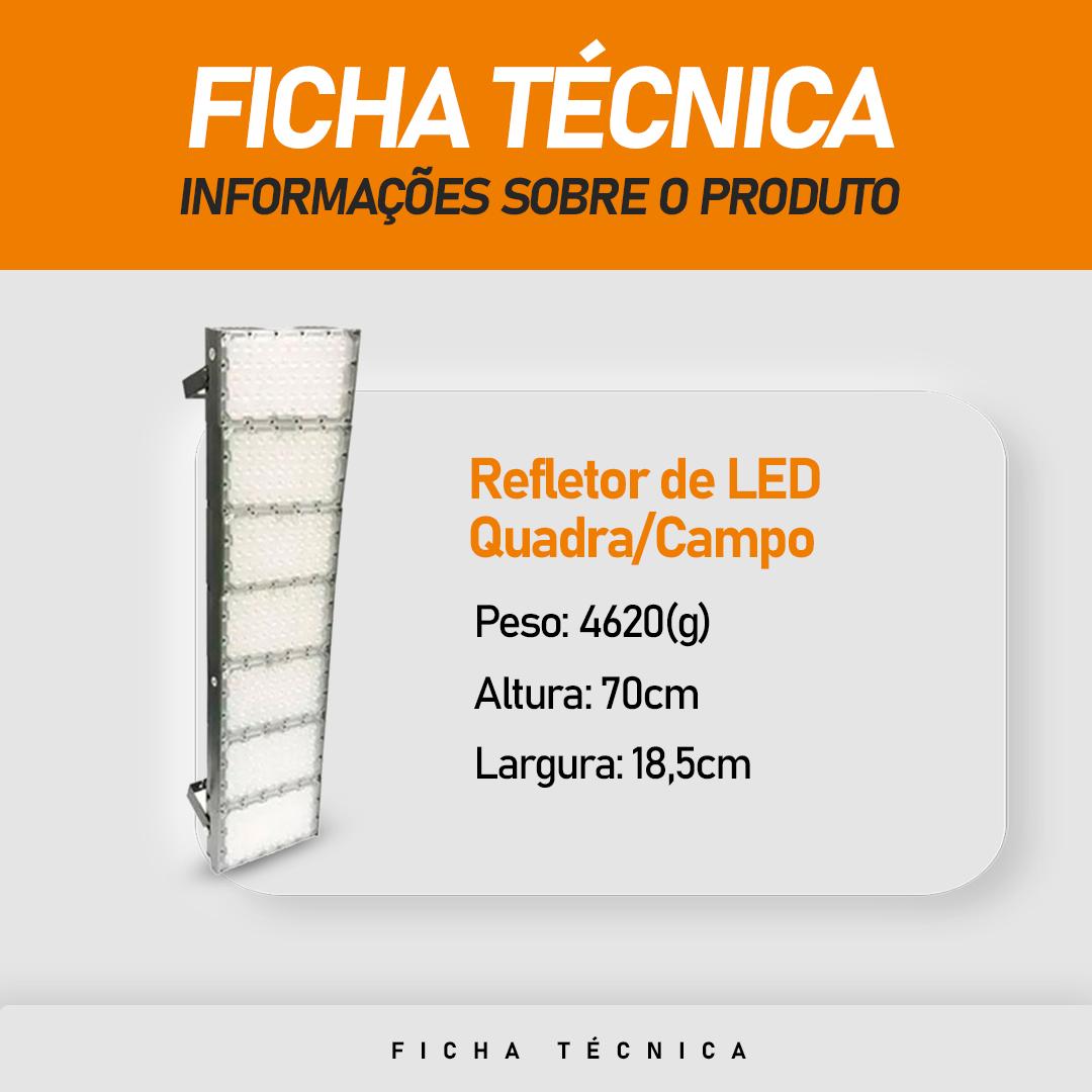 Refletor de Led para Campo   Quadra 700W IP68 Flood Light 7 Módulos Number Two Modelo 2021