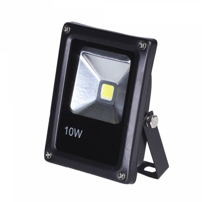 Refletor Holofote Led Projetor Branco frio 6500k Bivolt Com Fotocélula IP66 10w