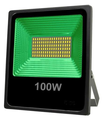 Refletor Holofote Micro Led Verde 100w Smd Bivolt