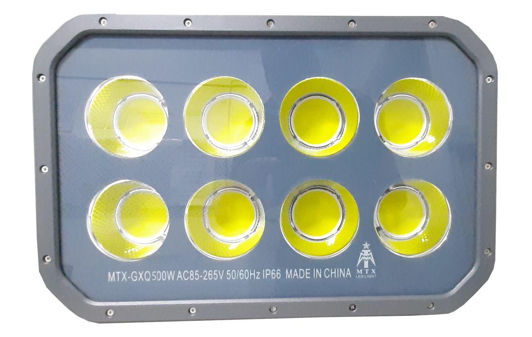 Projetor Ultra Led COB Recuado 500w IP67 a prova d'água Bivolt