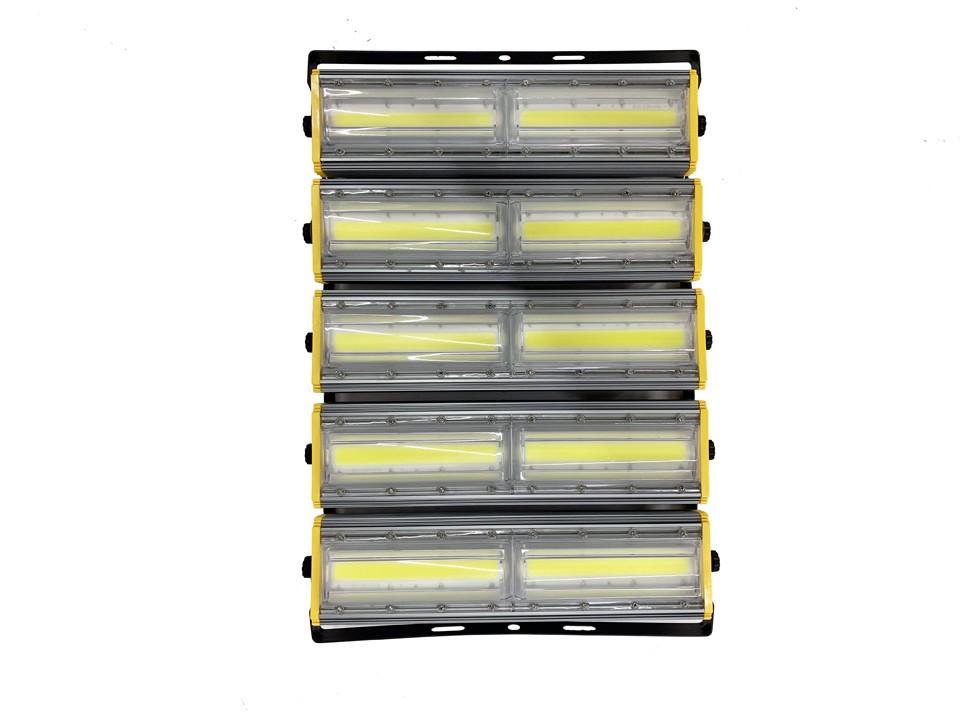 Refletor Industrial (GOLD) Modelo 2021 Flood light Linear 1000w Cinco Módulos Direcionável (Tecnologia Militar)