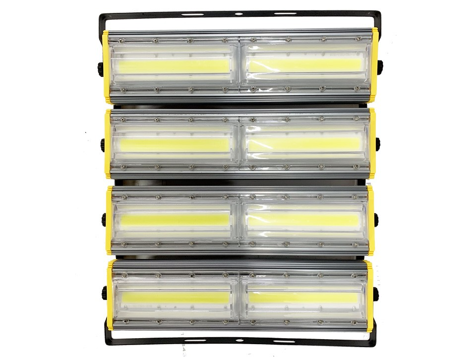 Refletor Led (GOLD) Modelo 2021 Flood light Linear 800w IP68 Duplo Quatro Módulos Direcionável (Tecnologia Militar)