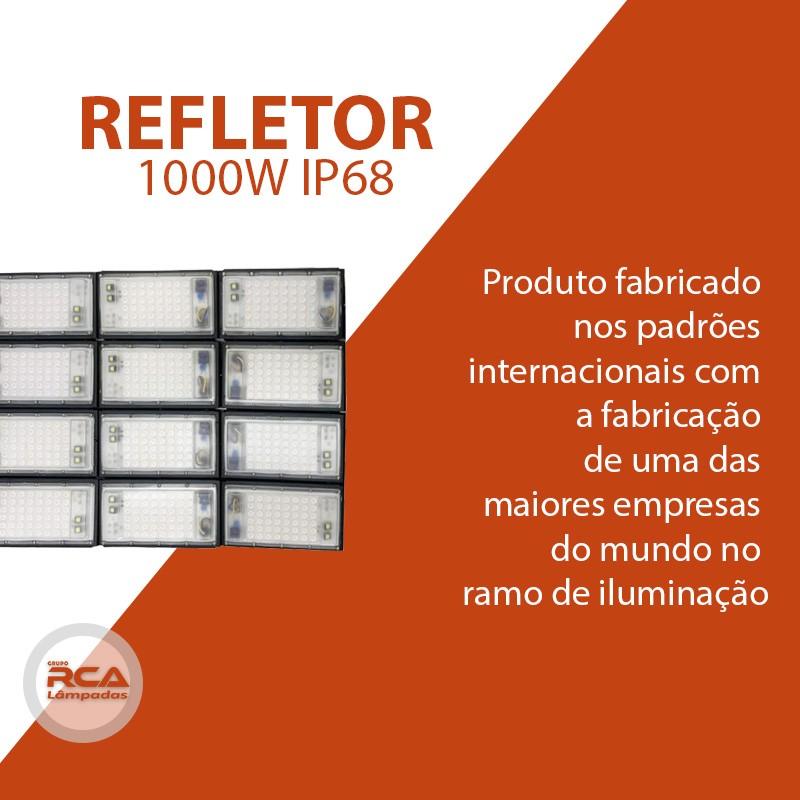 Refletor Led (GOLD) Modelo 2021 Flood light Number one 1000w IP68 12 Modulos (Tecnologia Militar)