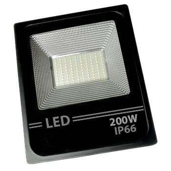 Refletor Led Holofote Smd 200w Microled IP66 Branco Quente Bivolt