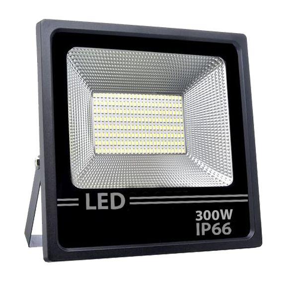 Refletor Led Holofote Smd 300w Microled IP66 Branco Quente Bivolt